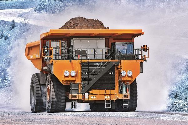 camión minero hitachi para minería pesada